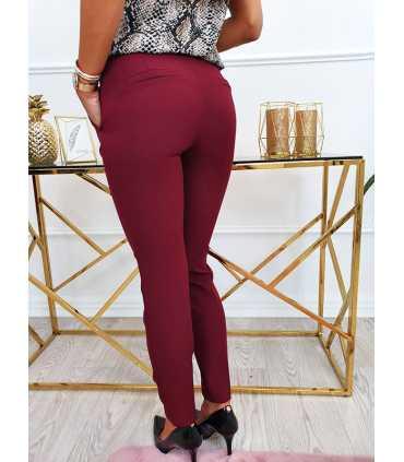 E289 Eleganckie Spodnie ZARA BORDO