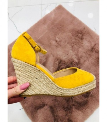 S151 Sandały Espadryle Yellow