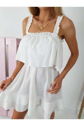 copy of E801 Zwiewna Sukienka IGA z falbankami White
