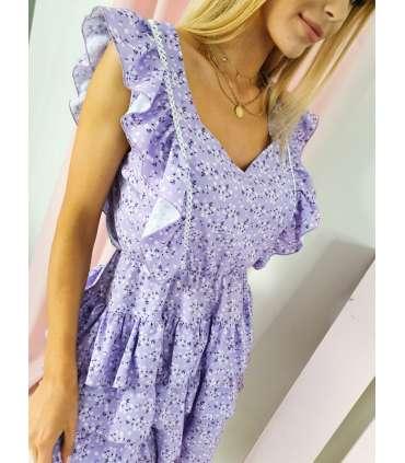 MY565 Sukienka Judie Lilac Flowers