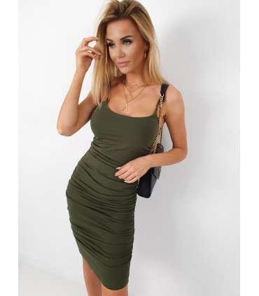 LL510 Sukienka Basic Marla Khaki