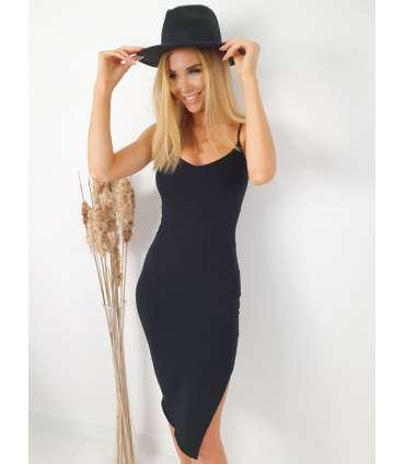 LL573 Sukienka Basic Stella Black