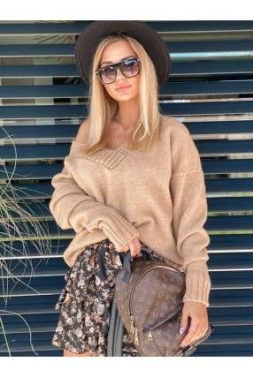 copy of LL992 Sweter Oversize V Black