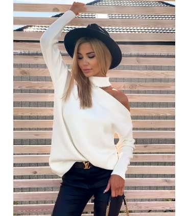 copy of LL992 Sweter Oversize V White