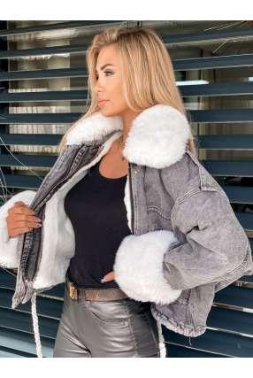 K103 Katana Estilo Grafit Jeans Futro White