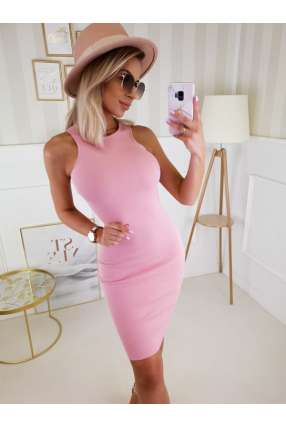 LL841 Sukienka Basic Loren Pink