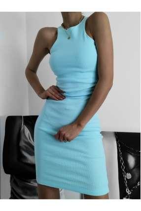 LL841 Sukienka Basic Loren Blue